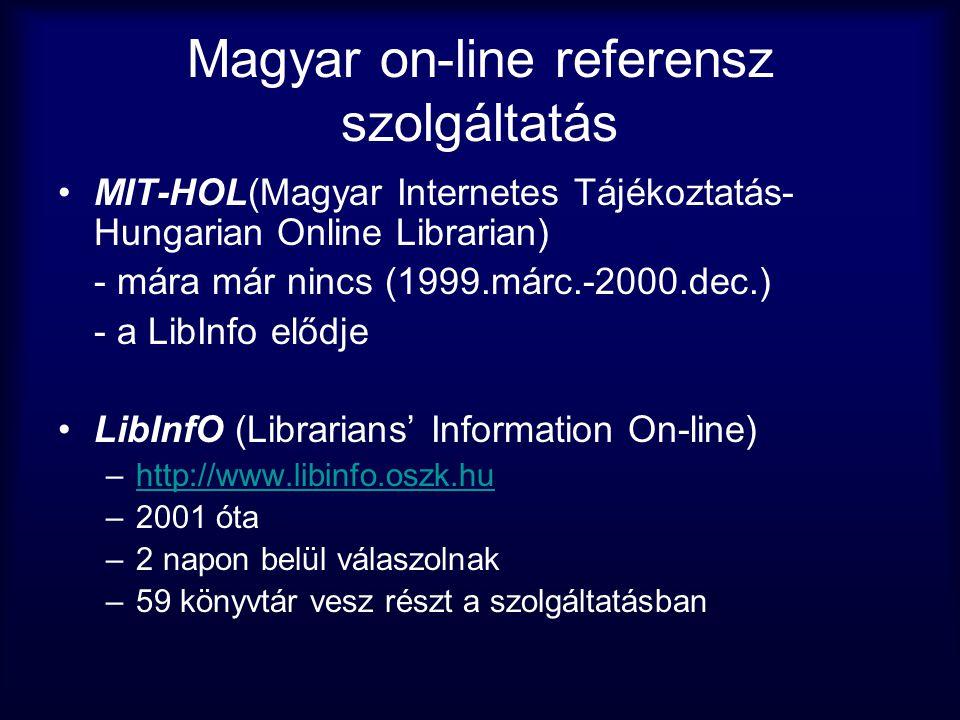 Magyar on-line referensz szolgáltatás