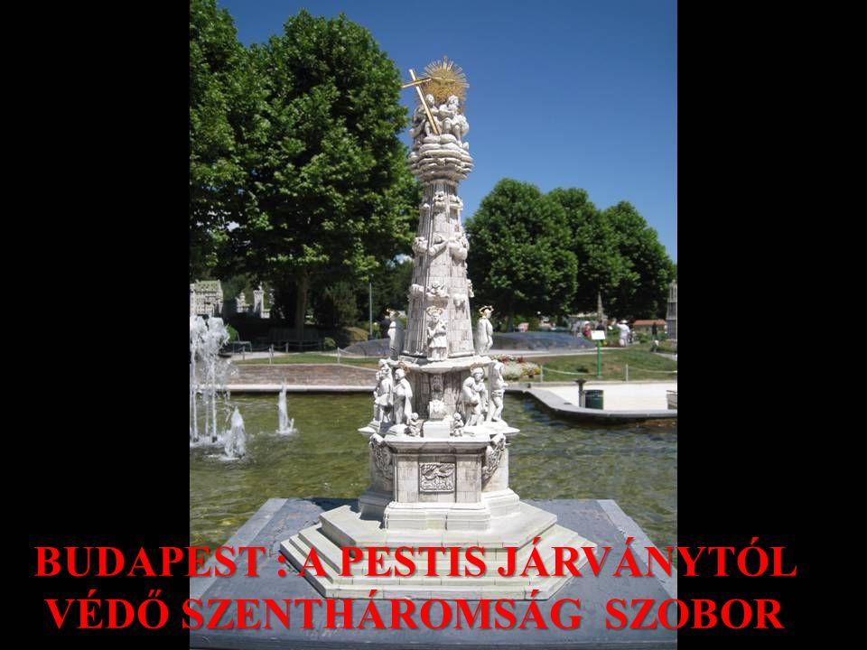 BUDAPEST : A PESTIS JÁRVÁNYTÓL VÉDŐ SZENTHÁROMSÁG SZOBOR