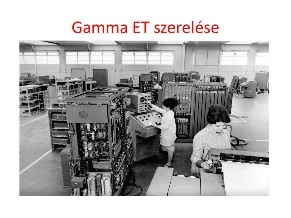 Gamma ET szerelése Gamma ET szerelése az Angers-i üzemben.