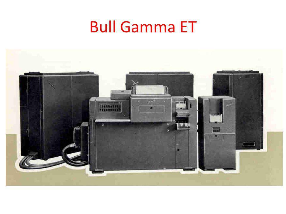 Bull Gamma ET Táblázógép. (Sornyomtató, kártyaolvasó, összeglyukasztó).