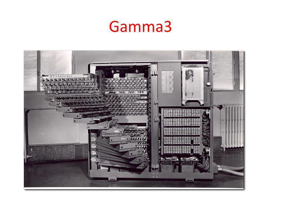 Gamma3 Első generációs elektroncsöves gép. Dugaszolt programtábla.