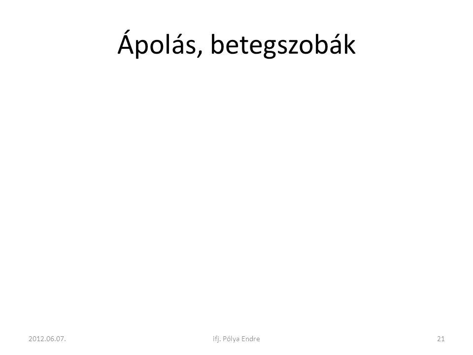 Ápolás, betegszobák 2012.06.07. ifj. Pólya Endre