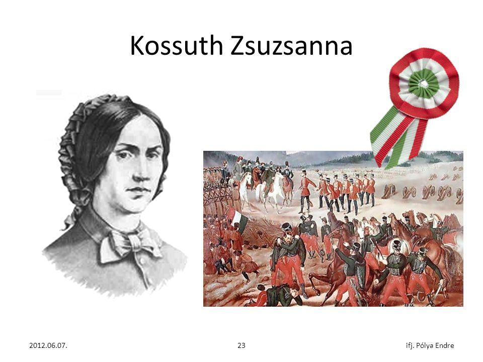 Kossuth Zsuzsanna ifj. Pólya Endre 2011. december 07. 2012.06.07.