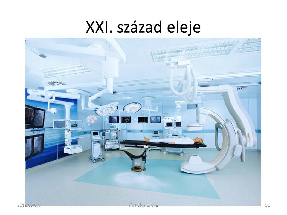 XXI. század eleje 2012.06.07. ifj. Pólya Endre