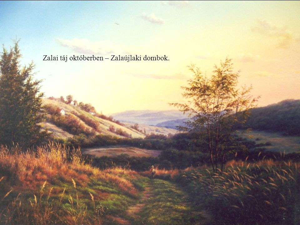 Zalai táj októberben – Zalaújlaki dombok.