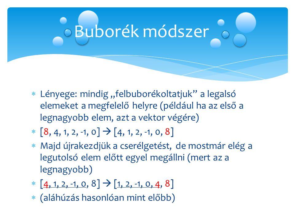 Buborék módszer