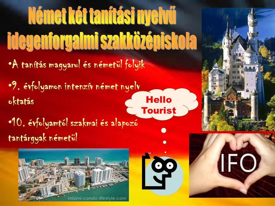 Német két tanítási nyelvű idegenforgalmi szakközépiskola