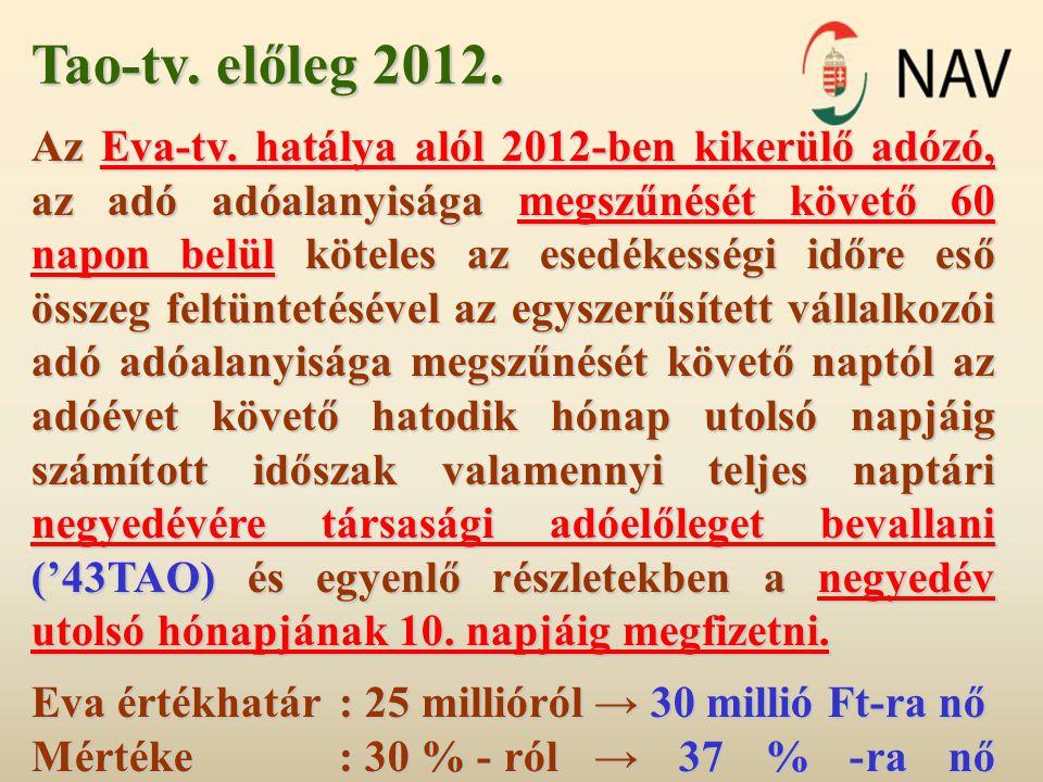Tao-tv. előleg 2012.