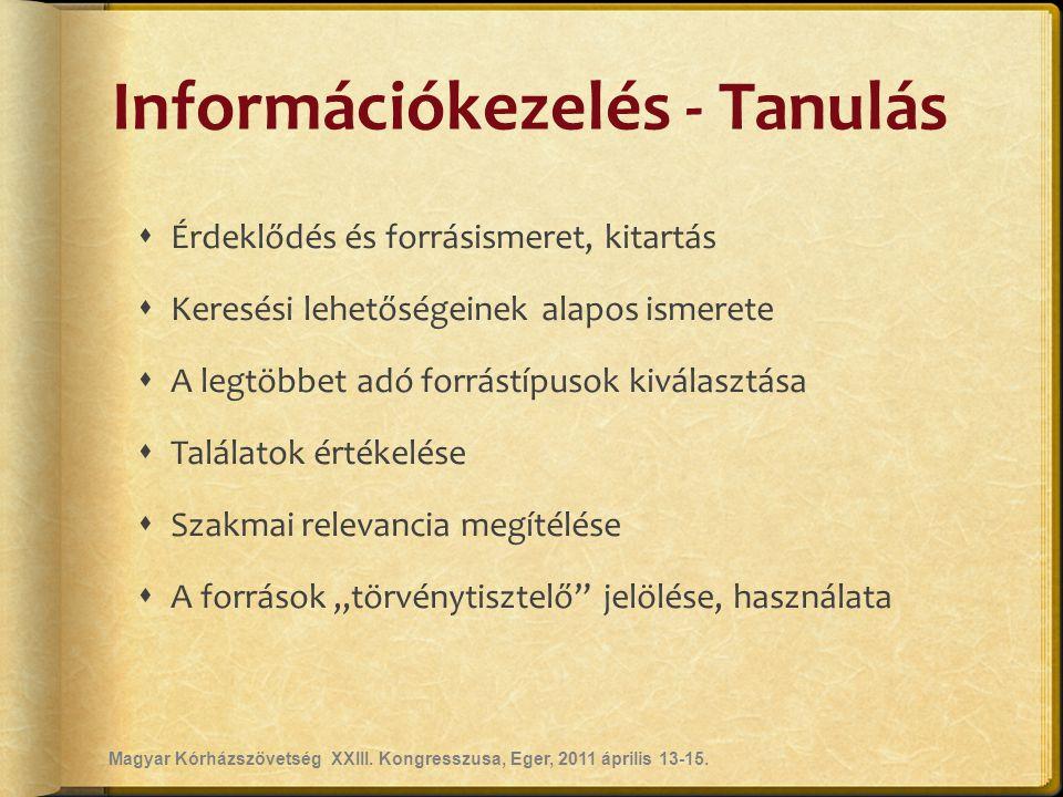 Információkezelés - Tanulás