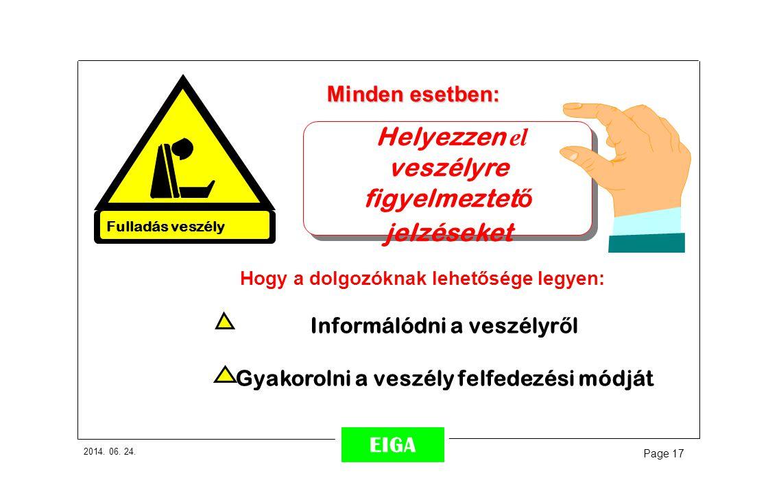 Helyezzen el veszélyre figyelmeztető jelzéseket