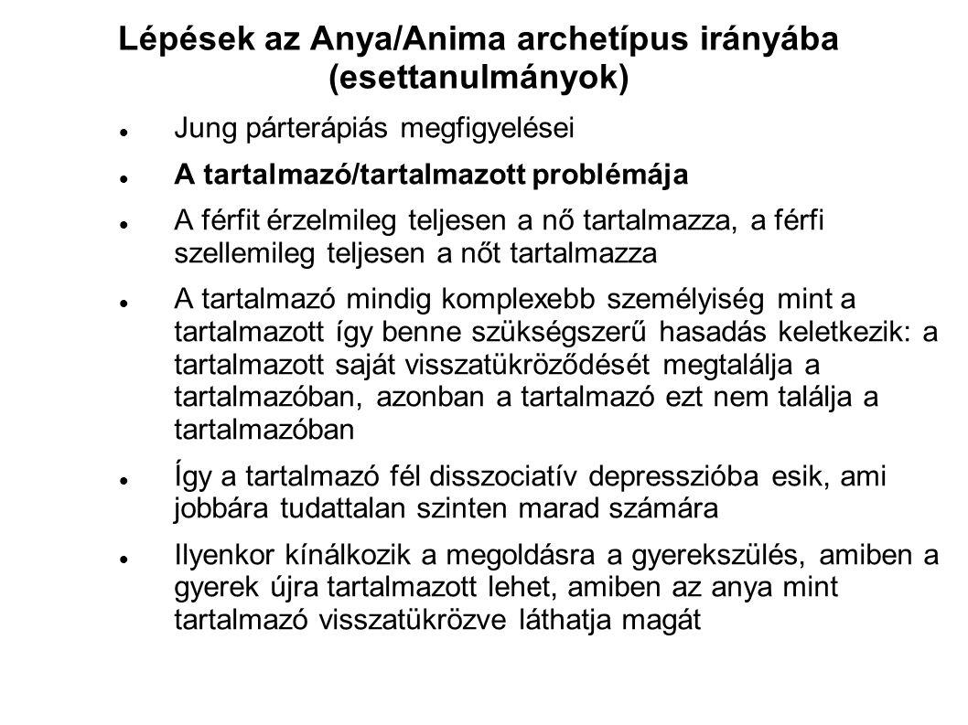 Lépések az Anya/Anima archetípus irányába (esettanulmányok)