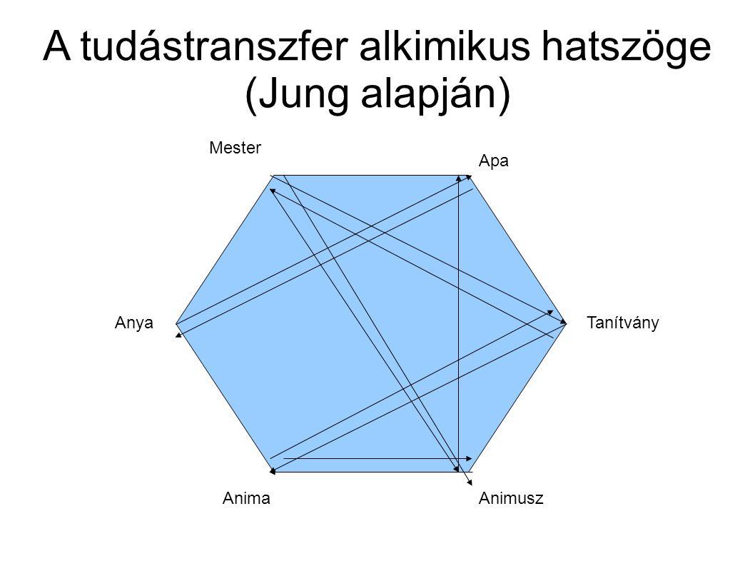 A tudástranszfer alkimikus hatszöge (Jung alapján)