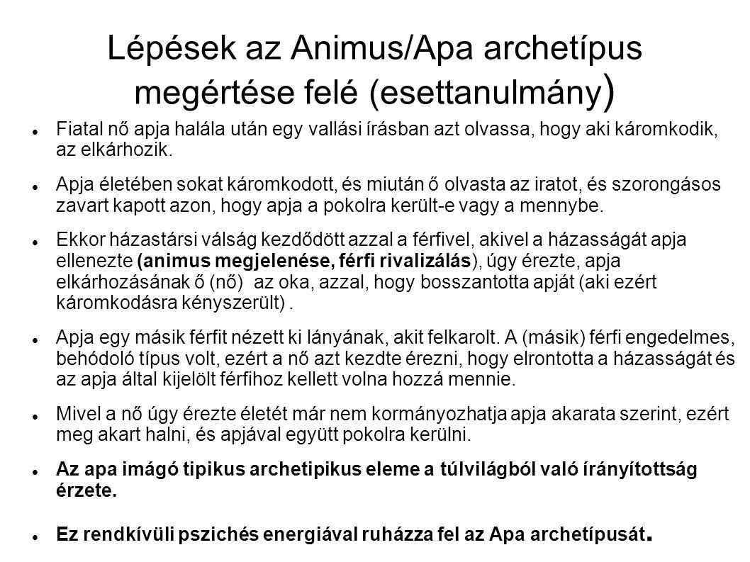 Lépések az Animus/Apa archetípus megértése felé (esettanulmány)