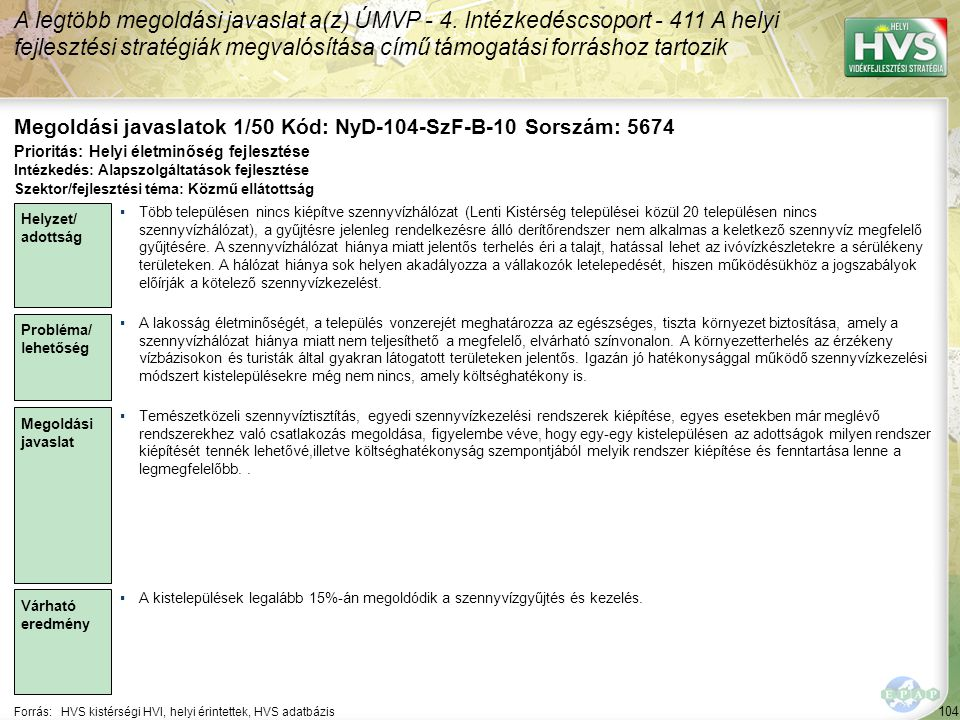 Megoldási javaslatok 1/50 Kód: NyD-104-SzF-B-10 Sorszám: 5674