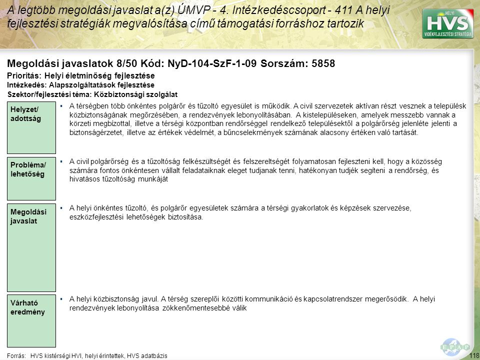 Megoldási javaslatok 8/50 Kód: NyD-104-SzF-1-09 Sorszám: 5858