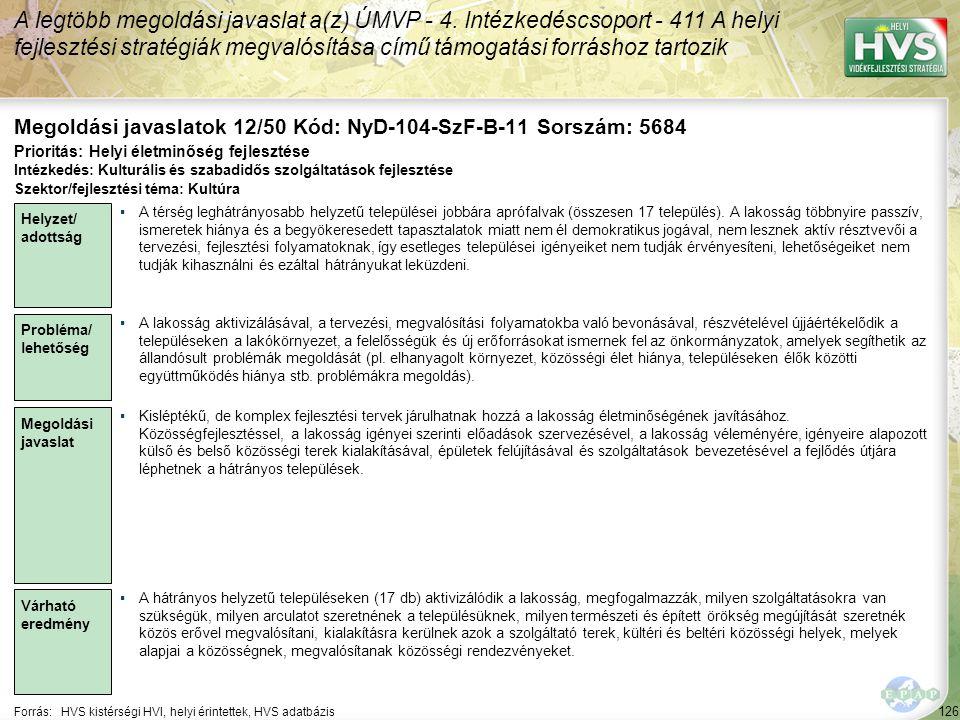 Megoldási javaslatok 12/50 Kód: NyD-104-SzF-B-11 Sorszám: 5684