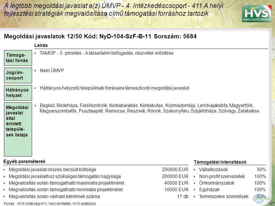 Megoldási javaslatok 13/50 Kód: NyD-104-SzF-A-15 Sorszám: 5681