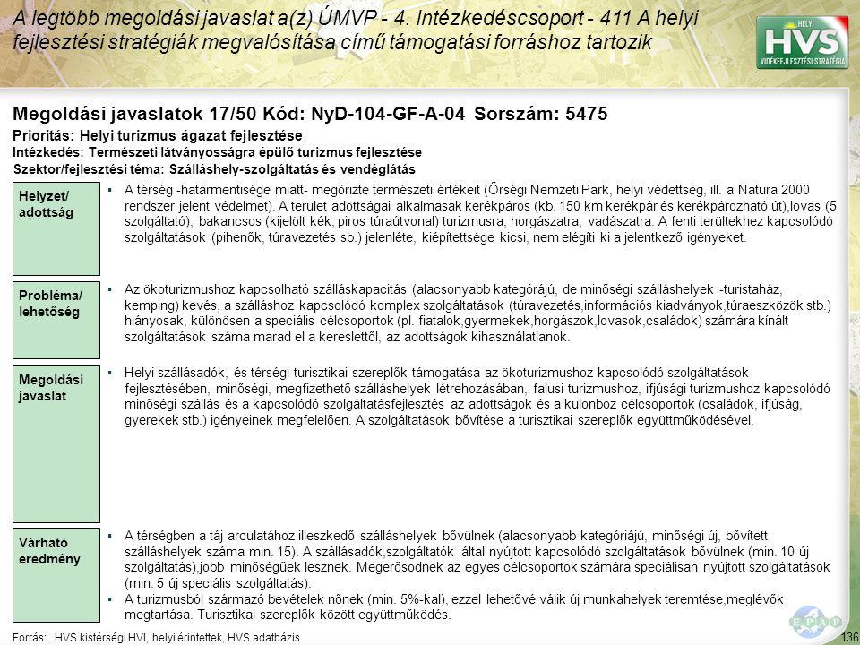 Megoldási javaslatok 17/50 Kód: NyD-104-GF-A-04 Sorszám: 5475