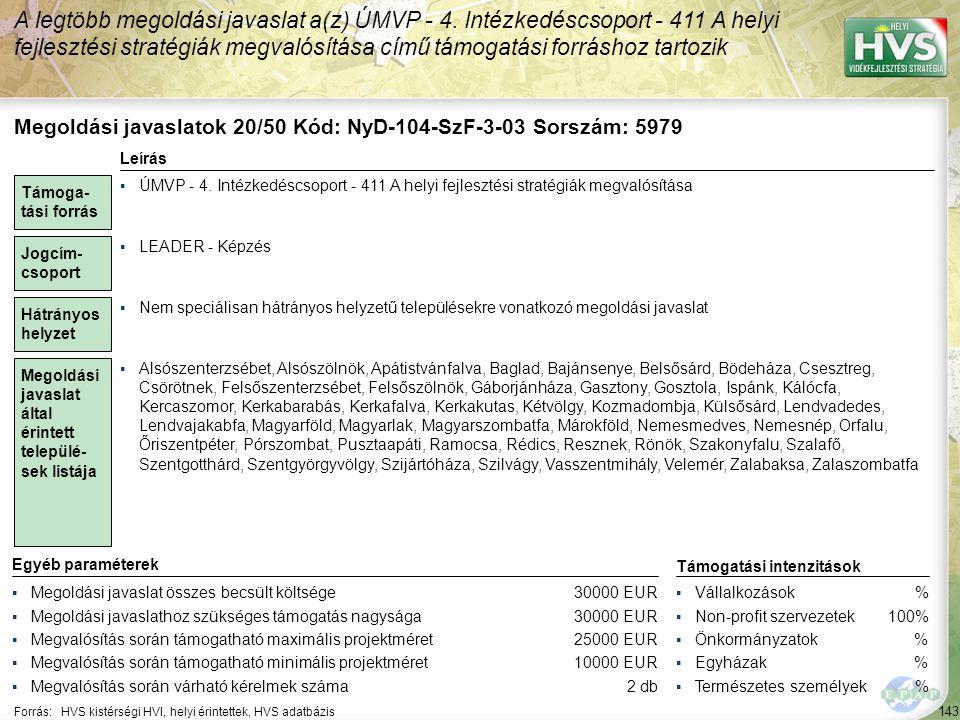 Megoldási javaslatok 21/50 Kód: NyD-104-GF-B-03 Sorszám: 5516