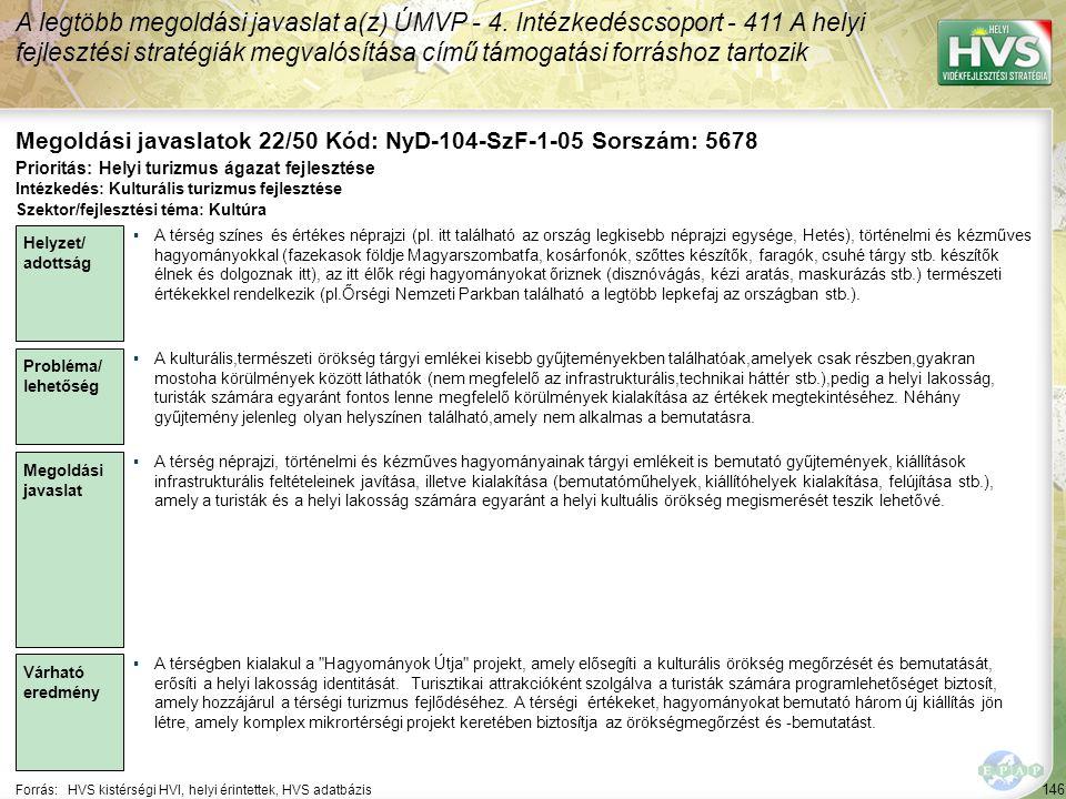 Megoldási javaslatok 22/50 Kód: NyD-104-SzF-1-05 Sorszám: 5678
