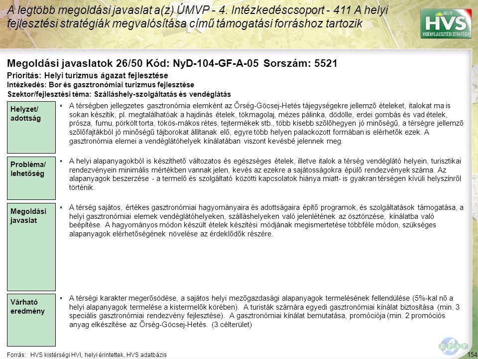 Megoldási javaslatok 26/50 Kód: NyD-104-GF-A-05 Sorszám: 5521
