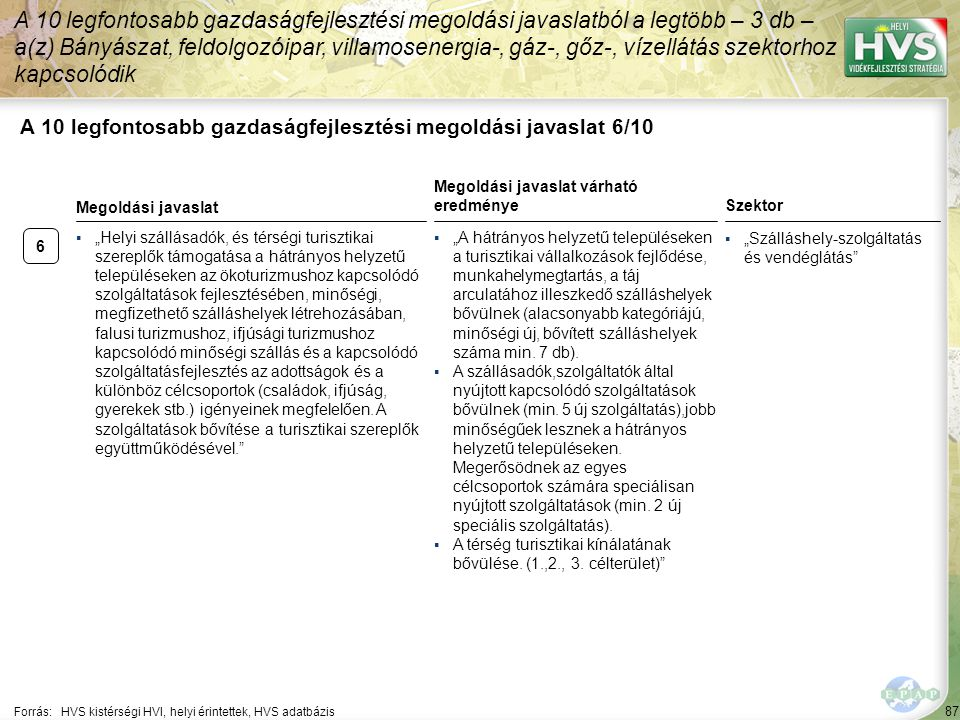 A 10 legfontosabb gazdaságfejlesztési megoldási javaslat 7/10