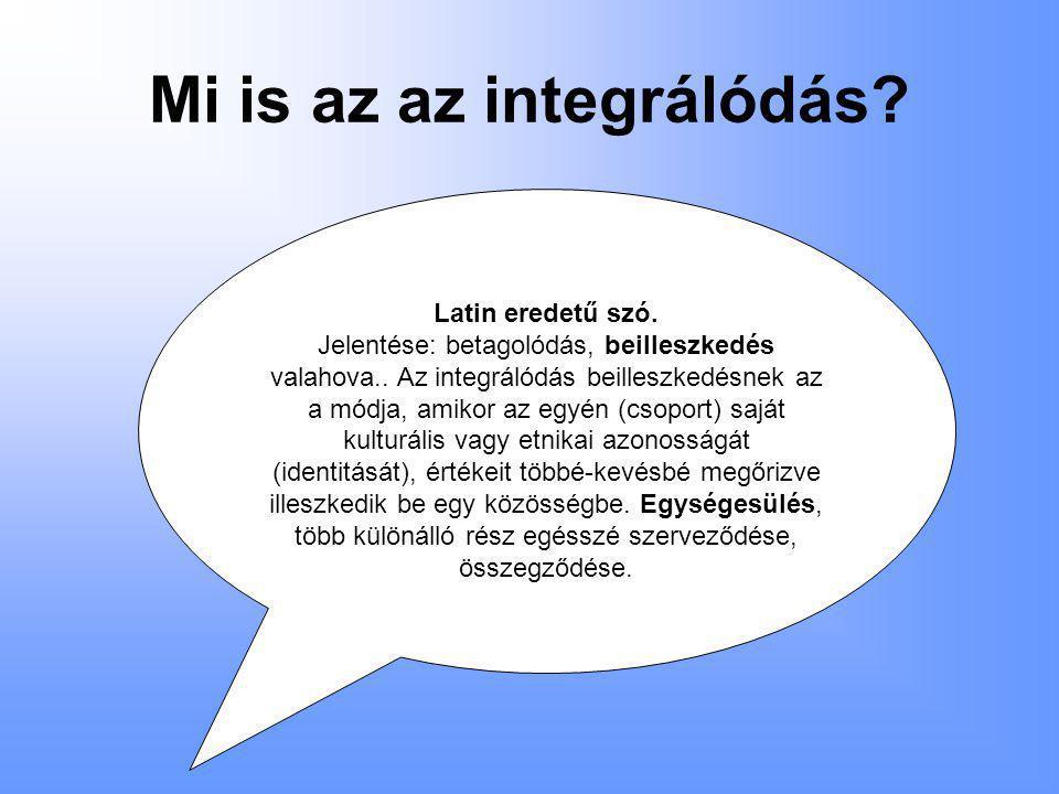 Mi is az az integrálódás