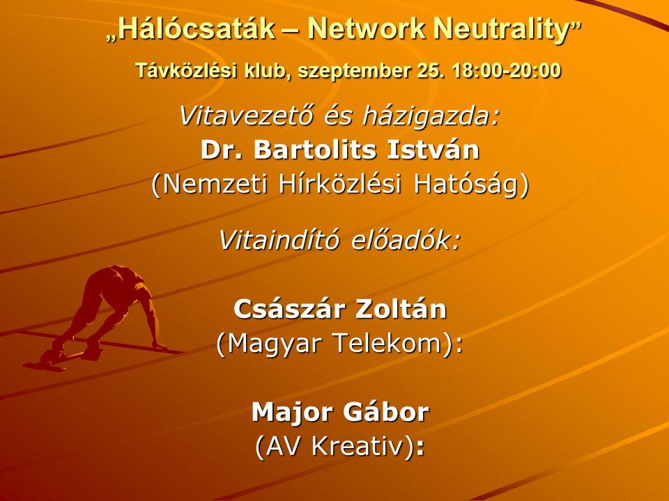 Dr. Bartolits István Császár Zoltán Major Gábor