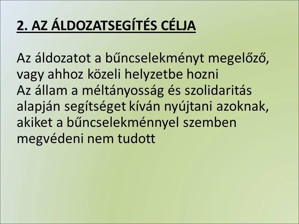 2. AZ ÁLDOZATSEGÍTÉS CÉLJA