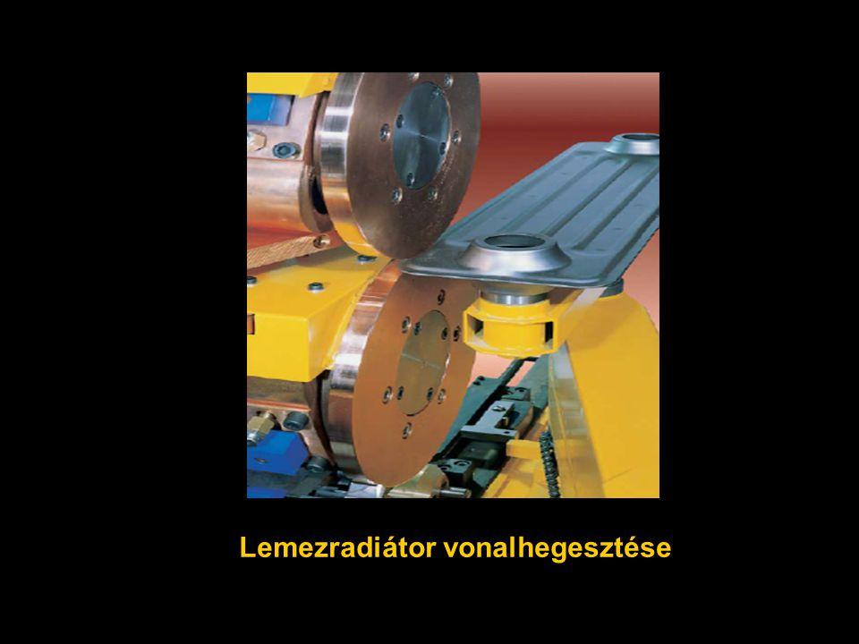 Lemezradiátor vonalhegesztése