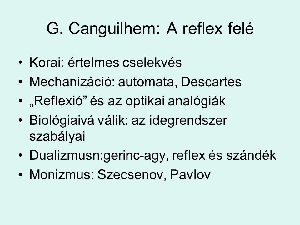 G. Canguilhem: A reflex felé