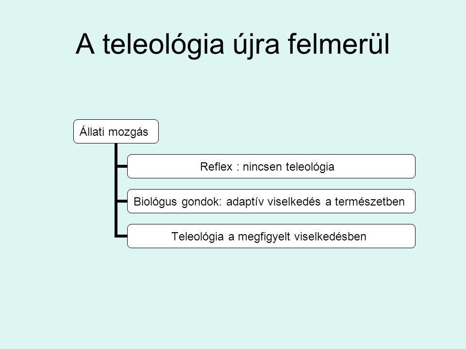 A teleológia újra felmerül