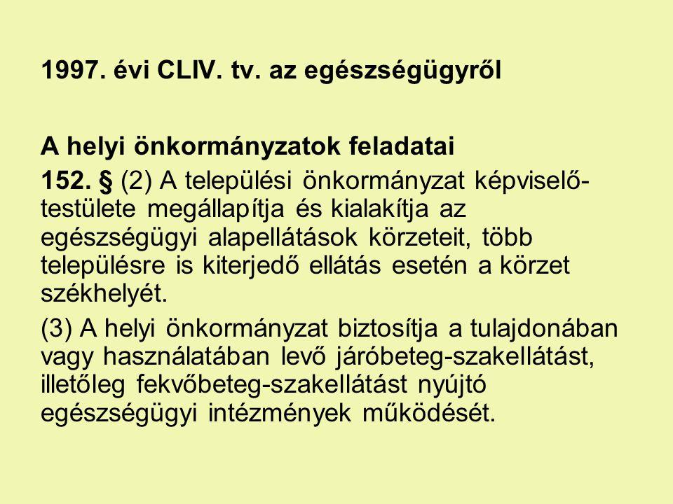 1997. évi CLIV. tv. az egészségügyről
