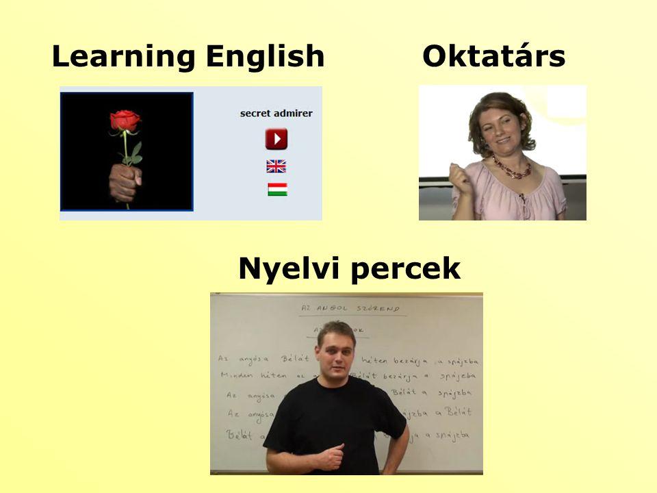Learning English Oktatárs Nyelvi percek
