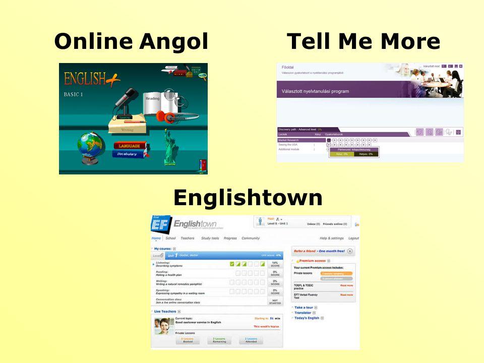 Online Angol Tell Me More Englishtown