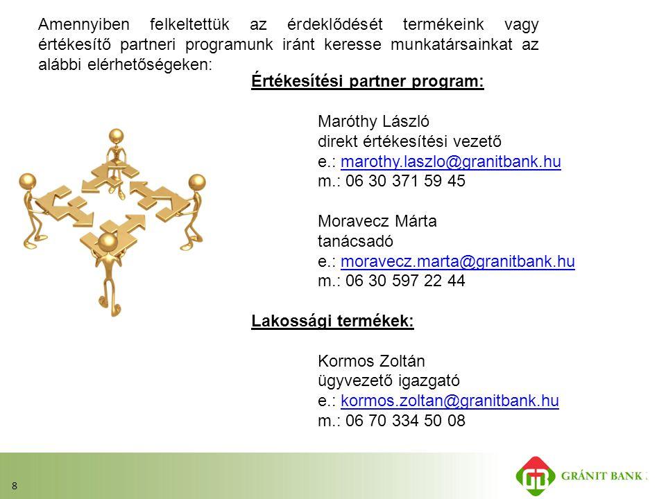 Értékesítési partner program: Maróthy László