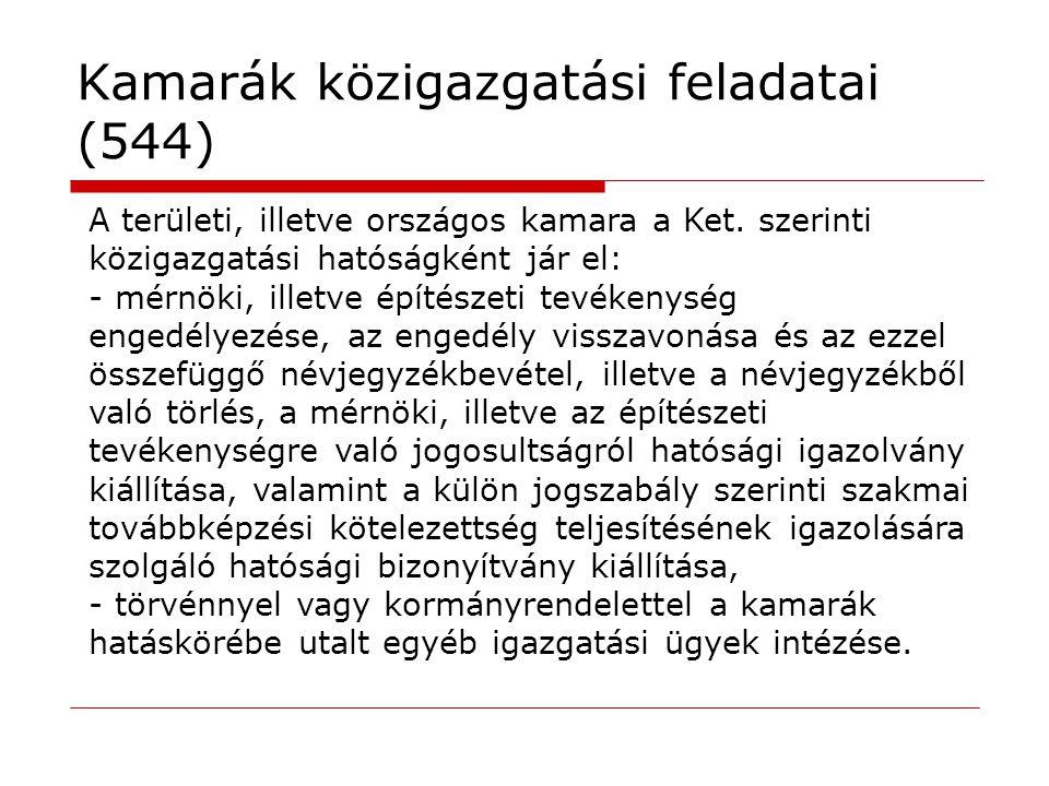 Kamarák közigazgatási feladatai (544)