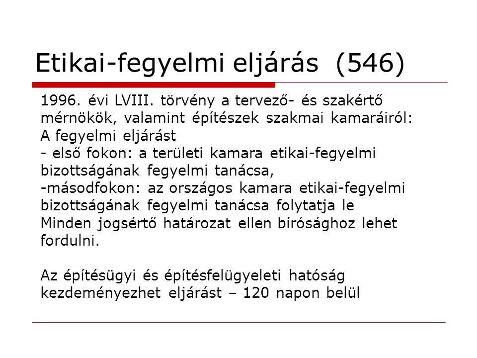 Etikai-fegyelmi eljárás (546)