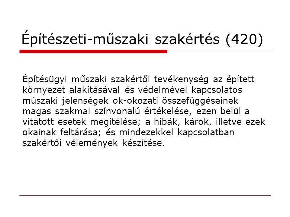 Építészeti-műszaki szakértés (420)