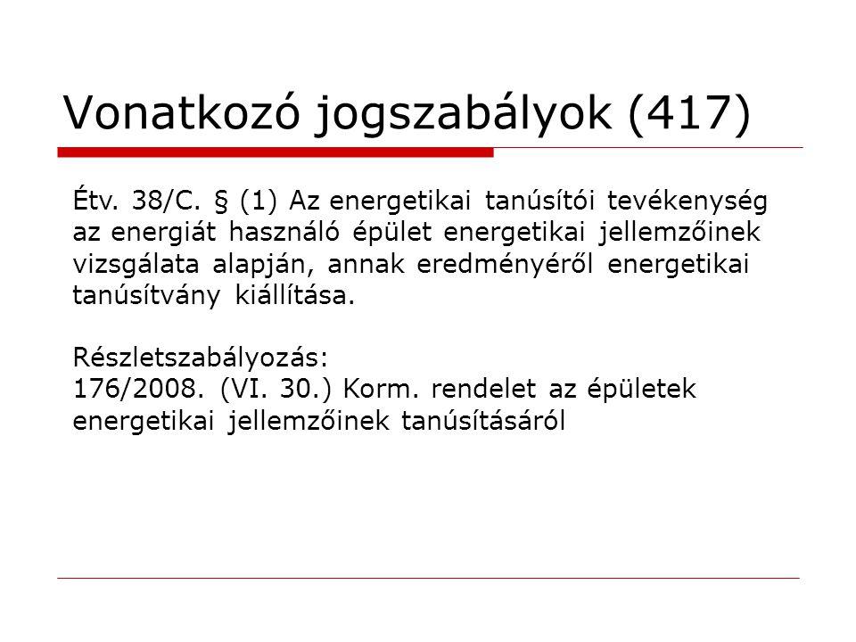 Vonatkozó jogszabályok (417)