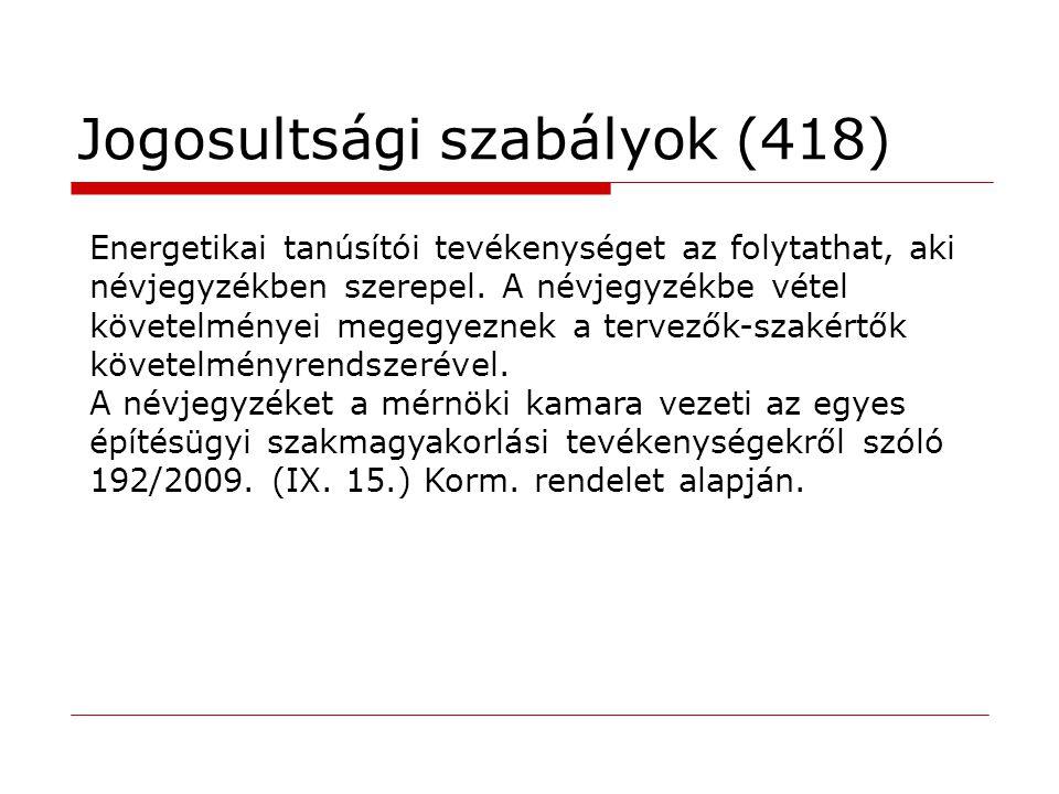 Jogosultsági szabályok (418)