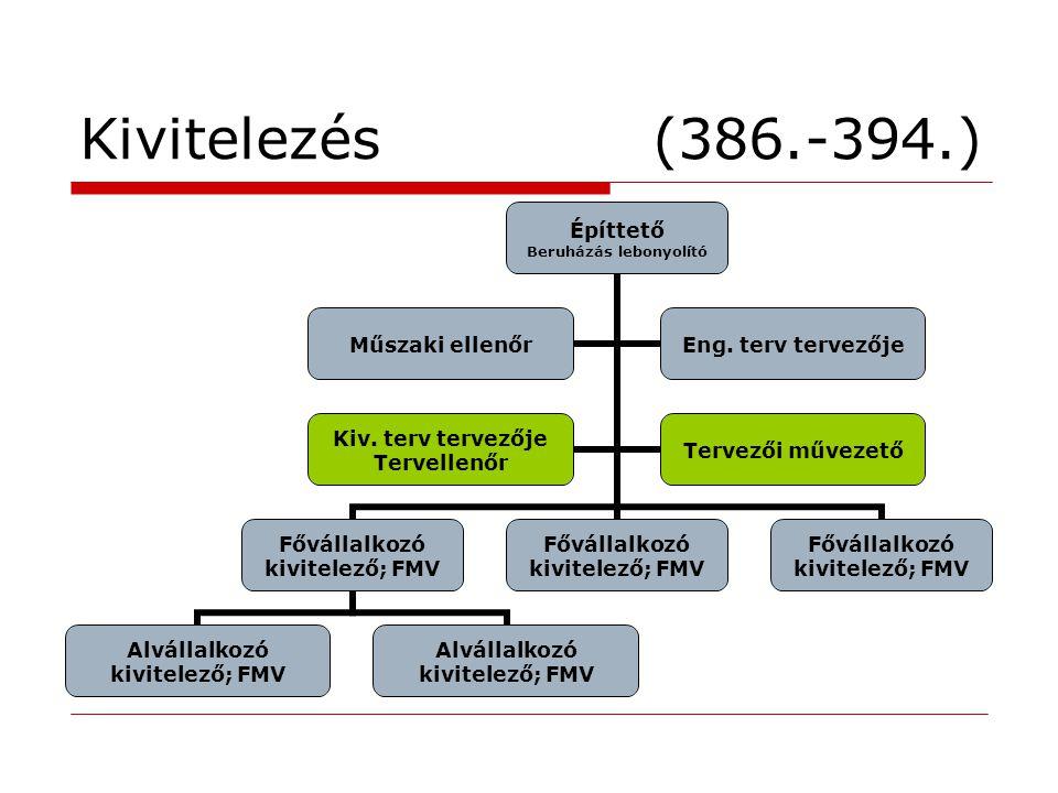Kivitelezés (386.-394.)