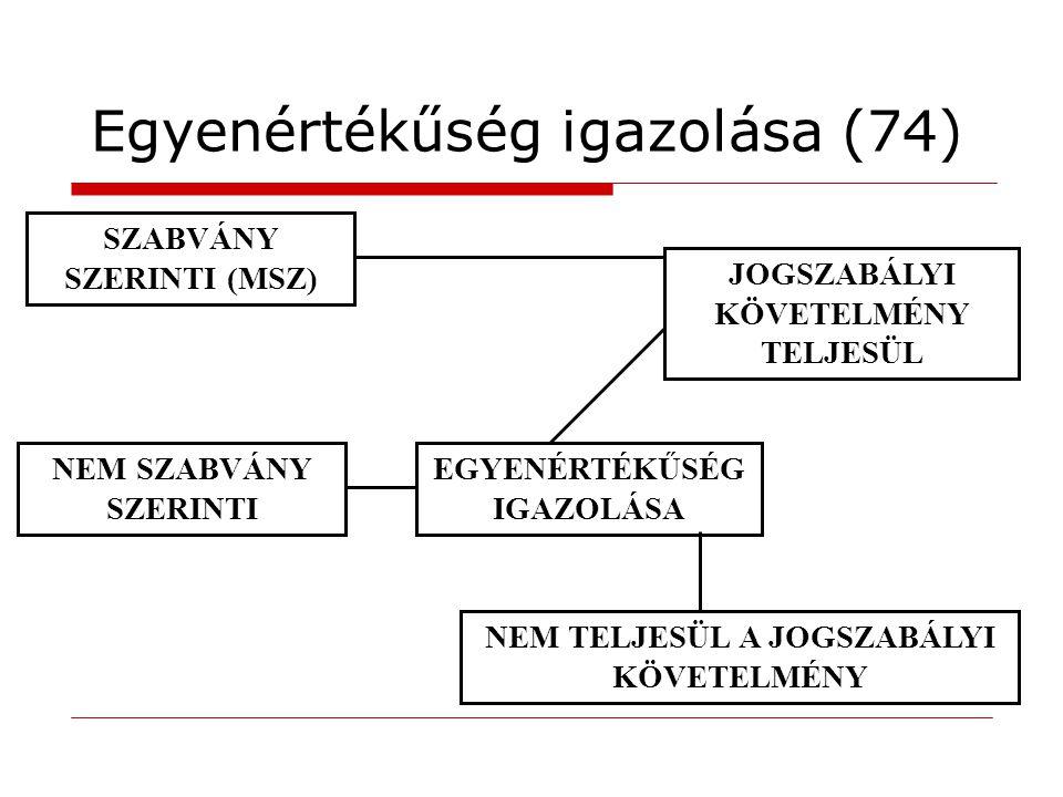 Egyenértékűség igazolása (74)