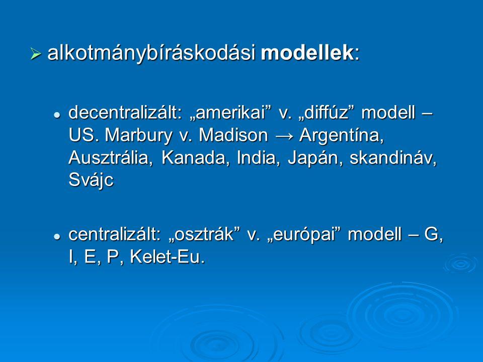 alkotmánybíráskodási modellek: