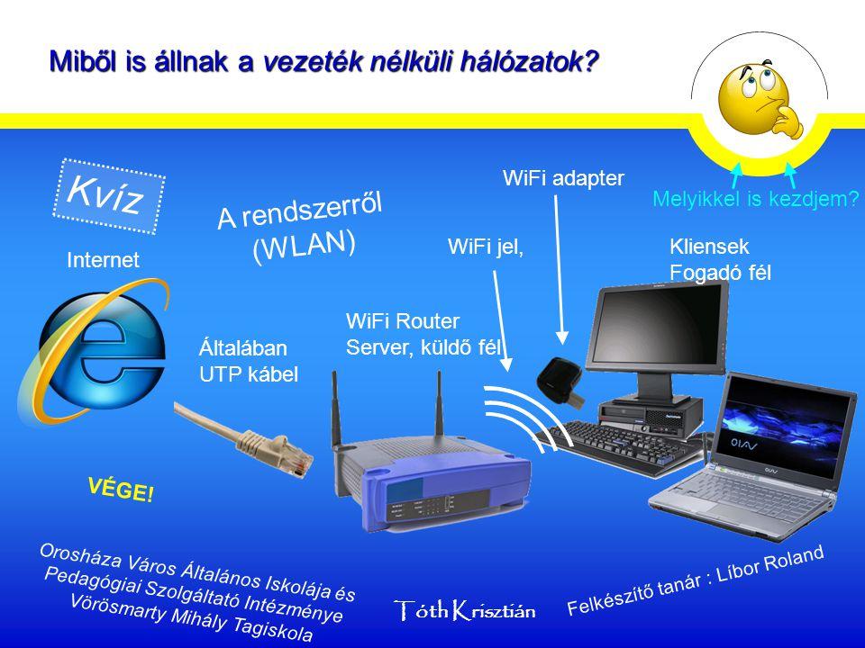 Miből is állnak a vezeték nélküli hálózatok