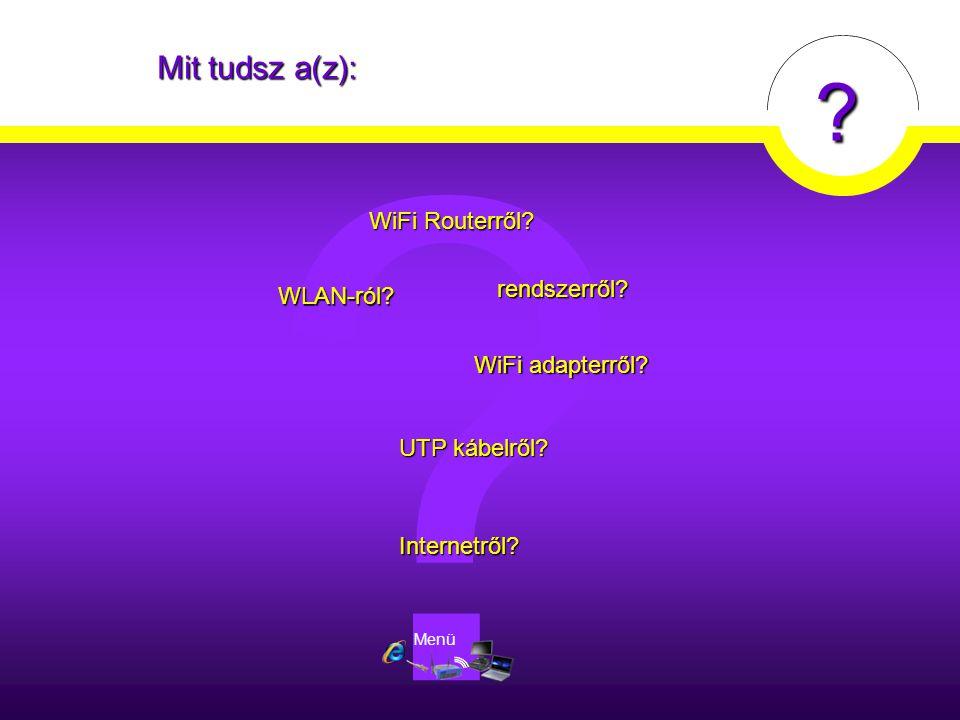 Mit tudsz a(z): WiFi Routerről rendszerről WLAN-ról