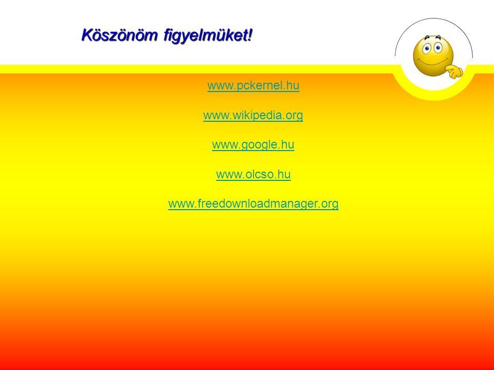 Felhasznált weboldalak: