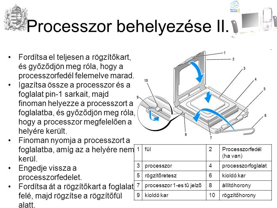Processzor behelyezése II.
