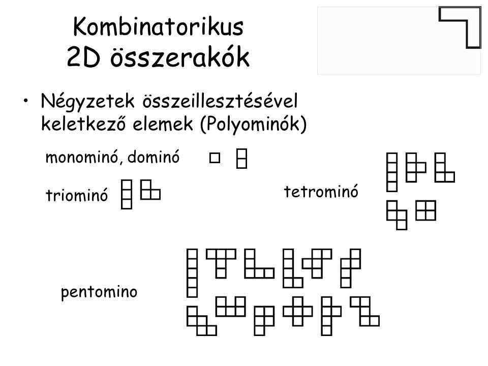 Kombinatorikus 2D összerakók