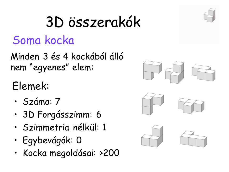 3D összerakók Soma kocka Elemek:
